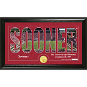 Highland Mint Oklahoma  Sooners Framed 'Silhouette' Bronze Coin Photo Mint