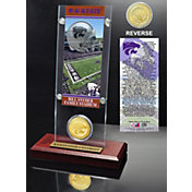 Highland Mint Kansas State Wildcats Ticket and Bronze Coin Desktop Display