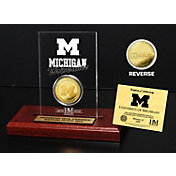 The Highland Mint Michigan Wolverines Gold Coin Etched Acrylic