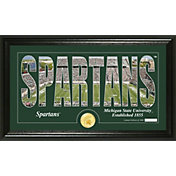 Highland Mint Michigan State Spartans Framed 'Silhouette' Bronze Coin Photo Mint
