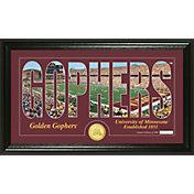 Highland Mint Minnesota Golden Gophers Framed 'Silhouette' Bronze Coin Photo Mint
