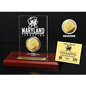 The Highland Mint Maryland Terrapins Gold Coin Etched Acrylic