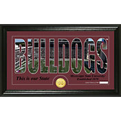 Highland Mint Mississippi State Bulldogs Framed 'Silhouette' Bronze Coin Photo Mint
