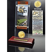 The Highland Mint Purdue Boilermakers Ticket and Coin Display