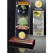 The Highland Mint Iowa Hawkeyes 1958 National Champions Ticket and Coin Display