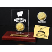 The Highland Mint Wisconsin Badgers Gold Coin Etched Acrylic