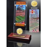 Highland Mint Iowa State Cyclones Ticket and Bronze Coin Desktop Display
