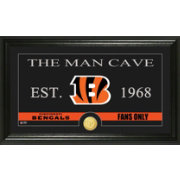 The Highland Mint Cincinnati Bengals 'The Man Cave' Framed Bronze Coin Photo Mint