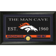 The Highland Mint Denver Broncos 'The Man Cave' Framed Bronze Coin Photo Mint