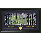The Highland Mint San Diego Chargers Framed 'Silhouette' Bronze Coin Photo Mint