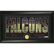 The Highland Mint Atlanta Falcons Framed 'Silhouette' Bronze Coin Photo Mint