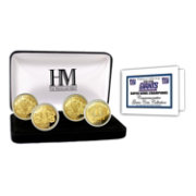 The Highland Mint New York Giants 4x Super Bowl Champions Gold Coin Set