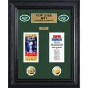 The Highland Mint New York Jets Super Bowl Ticket and Coin Collection