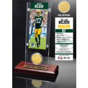 The Highland Mint Green Bay Packers Jordy Nelson Ticket and Bronze Coin Desktop Display