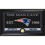 The Highland Mint New England Patriots 'The Man Cave' Framed Bronze Coin Photo Mint