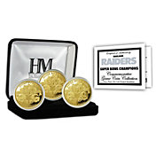 The Highland Mint Oakland Raiders 3x Super Bowl Champions Gold Coin Set