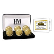 The Highland Mint Pittsburgh Steelers 6x Super Bowl Champions Gold Coin Set