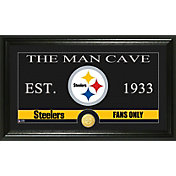 The Highland Mint Pittsburgh Steelers 'The Man Cave' Framed Bronze Coin Photo Mint