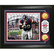 Highland Mint Houston Texans J.J. Watt 2014 Defensive Player of the Year Gold Coin Photo Mint