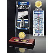 Highland Mint Tampa Bay Lightning 2004 Stanley Cup Champions Ticket and Bronze Coin Acrylic Display