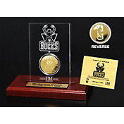 The Highland Mint Milwaukee Bucks Gold Coin Etched Acrylic