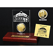 The Highland Mint Denver Nuggets Gold Coin Etched Acrylic
