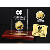 The Highland Mint Notre Dame Fighting Irish Gold Coin Etched Acrylic