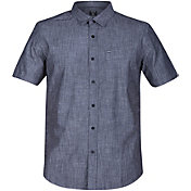 Hurley Men's One & Only 3.0 Button Down Short Sleeve Shirt