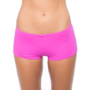 Hurley Women's One & Only Boyshort Bikini Bottoms
