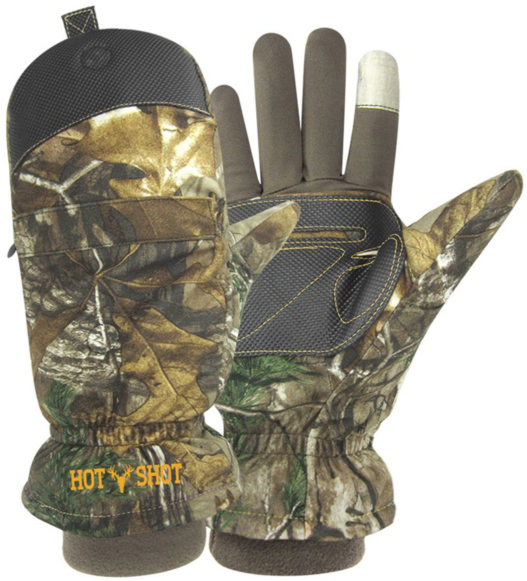 Ladies leather gloves wool lined - Product Image Hot Shot Men S Predator Pop Top Gloves