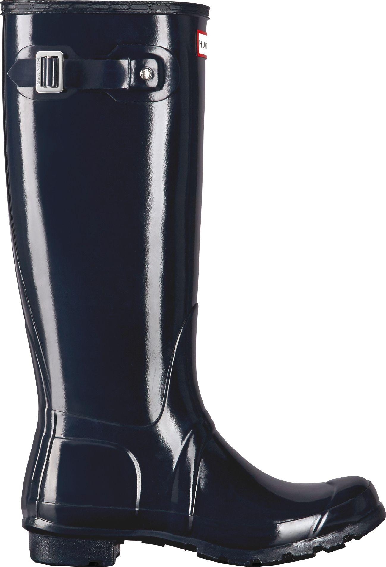 Hunter Boots Women's Original Tall Gloss Rain Boots. 0:00. 0:00 / 0:00.  noImageFound ???