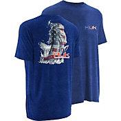 Huk Men's KScott American Bass T-Shirt