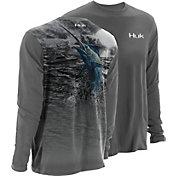 Huk Men's KScott Blue Storm Performance Long Sleeve Shirt