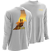 Huk Men's KScott PF Twighlight Long Sleeve Shirt