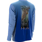 Huk Men's KScott Lets Fight Performance Long Sleeve Shirt