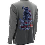 Huk Men's KScott American Bass Performance Long Sleeve Shirt