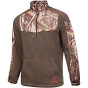 Huntworth Men's 2-Tone Quarter Zip Fleece Pullover