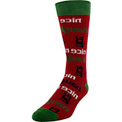 Yaktrax Men's Holiday Naughty Nice Cabin Socks