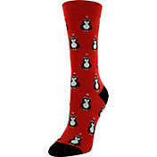 Yaktrax Women's Holiday Penguins Cabin Socks