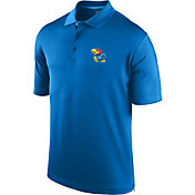 J. America Men's Kansas Jayhawks Blue Spector Polo