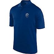 J. America Men's Old Dominion Monarchs Blue Spector Polo