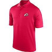 J. America Men's Utah Utes Crimson Spector Polo
