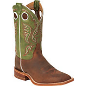Justin Men's Cognac Bent Rail Square Toe Western Boots