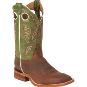 Justin Men's Cognac Bent Rail Square Toe Western Boots