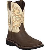 Justin Men's Stampede Square Toe EH Work Boots