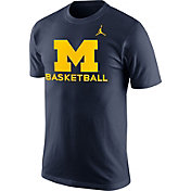Jordan Men's Michigan Wolverines Blue University Basketball T-Shirt