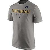 Jordan Men's Michigan Wolverines Grey Football Practice T-Shirt