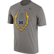 Jordan Men's Michigan Wolverines Grey Football Icon Legend T-Shirt