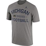 Jordan Men's Michigan Wolverines Grey Lift Football Legend T-Shirt