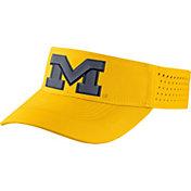 Jordan Men's Michigan Wolverines Maize Vapor Sideline Visor